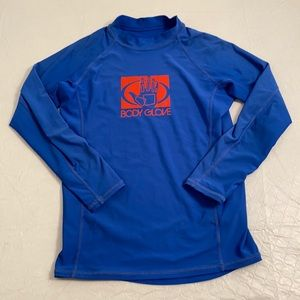Body Glove long sleeve blue/red fitted rash guard